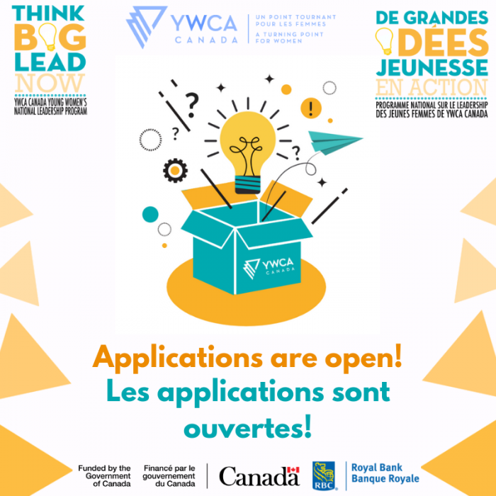 Think Big! Lead Now! YWCA Canada Young Women's National Leadership Program